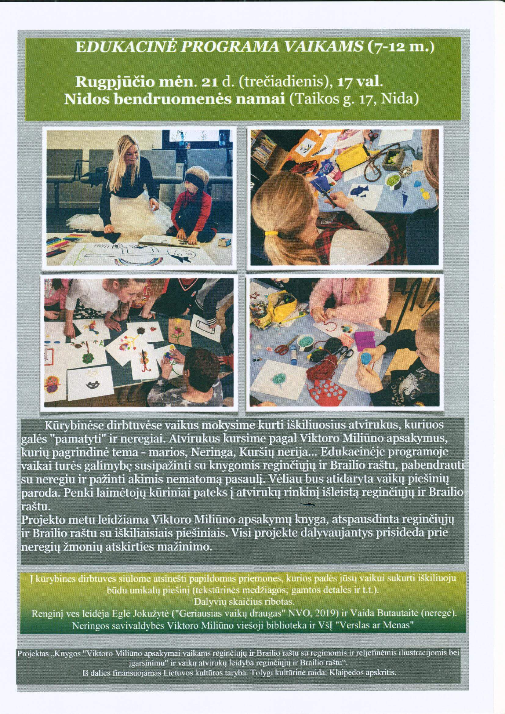 Edukacinė programa vaikams